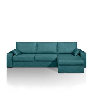Canapé-lit d'angle Cécilia, couchage express, polyester chiné La Redoute Interieurs
