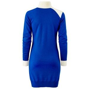 Lange jurk in zuiver wol ETIENNE DEROEUX POUR LA REDOUTE