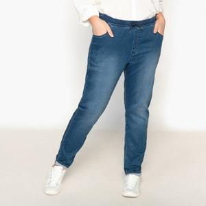 Boyfit-Jeans, Jersey-Denim CASTALUNA