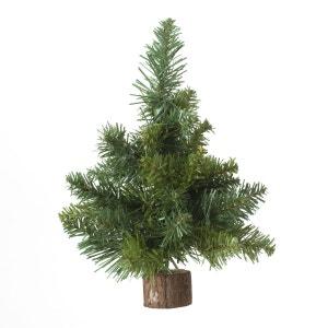 Sapin de Noël déco de table Blooming - 18 x 26 cm - Vert ATMOSPHERA