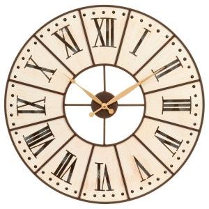 Horloge horloge murale design en solde la redoute for Castorama horloge
