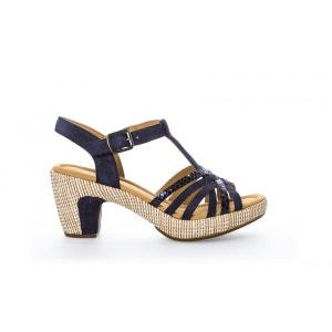 Nu-pieds bicolores à talon GABOR