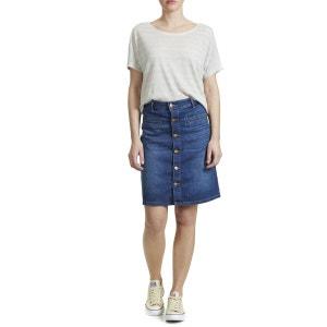 Tee Shirt Wrangler Slounchy Raye Bleu Blanc Femme WRANGLER