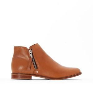 Boots in leer met rits, brede voet 38-45