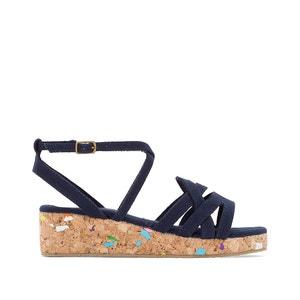 Sandalias con tacón en cuña y suela de color abcd'R