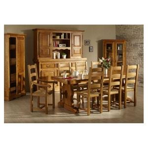 Ensemble table monastère + 6 chaises + bahut 3 portes LA BRESSE - bois chêne massif HELLIN, DEPUIS 1862