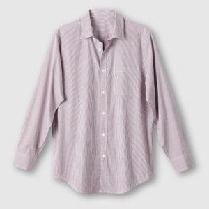 Poplin Shirt, Length 2 (Height Between 1.76 and 1.87m) CASTALUNA FOR MEN