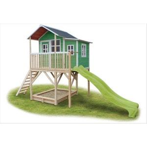 Maisonnette + bac à sable Loft 750 Vert EXIT TOYS