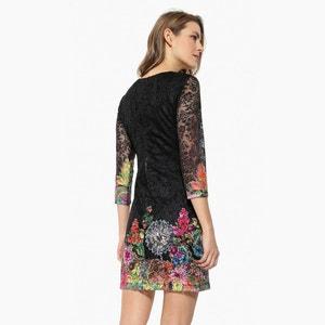 Lace Floral Print Dress DESIGUAL