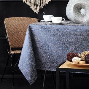 Nappe carrée brodée Kolam bleue 140 x 140 cm STOREX