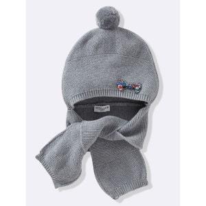 Bonnet écharpe bébé CYRILLUS