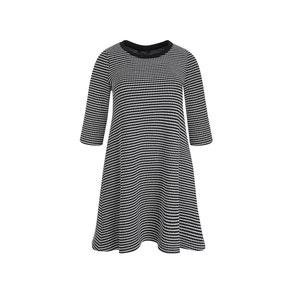 Plain Midi Skater Dress with 3/4 Length Sleeves MAT FASHION