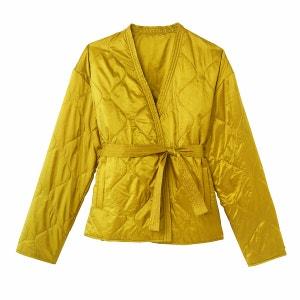 Chaqueta acolchada ligera estilo kimono