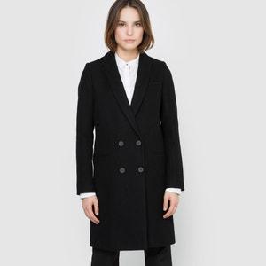 Cappotto dritto in panno di lana La Redoute Collections