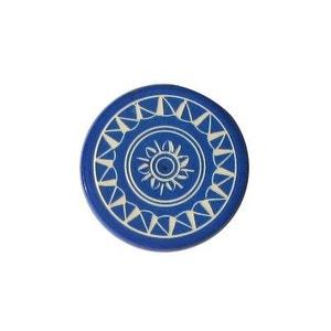 Shuffle puck Jeu de palets de table Palet de compétition 15g  : Bleu CARROM ART