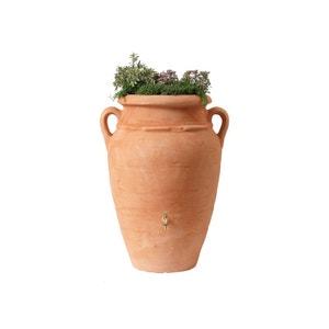 Kit Amphore Antik - Bac à plantes + collecteur + robinet - 360 L Terracotta GARANTIA