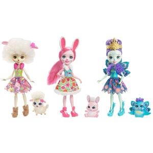 Enchantimals - Pack 3 Mini-poupées & Animaux - MATFMG18 MATTEL