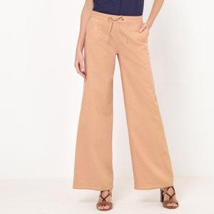 Pantaloni larghi, cotone/lino La Redoute Collections