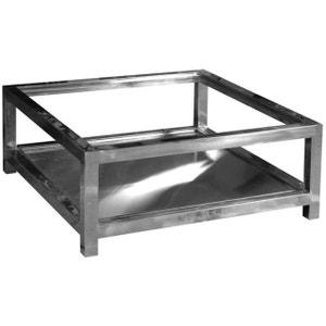 Table basse en aluminium et verre Manathan ANTIC LINE CRÉATIONS