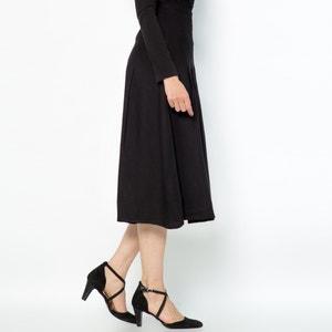 Falda con pliegues de sarga ligera ANNE WEYBURN
