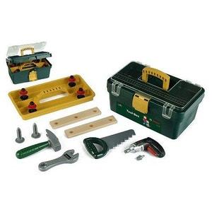 Caisse à outils Bosch avec visseuse/dévisseuse Ixolino à piles et autres outils KLEIN