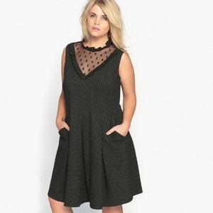 Wijde halflange jurk zonder mouwen CASTALUNA