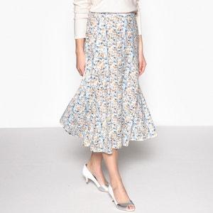 Floral Print Flared Midi Skirt ANNE WEYBURN