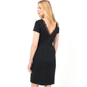 Kleid, gerade Form, Stretch-Satin MINI PREISE