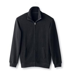 Vest met rits, geribd tricot van zuiver katoen CASTALUNA FOR MEN