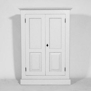 Petite Armoire bois massif, 2 portes 4 étagères     N291 MADE IN MEUBLES