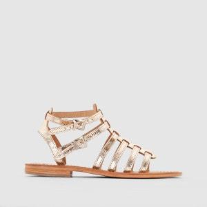 Sandales spartiates plates, cuir, Hic LES TROPEZIENNES par M BELARBI