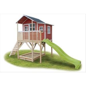 Maisonnette + bac à sable Loft 750 Rouge EXIT TOYS
