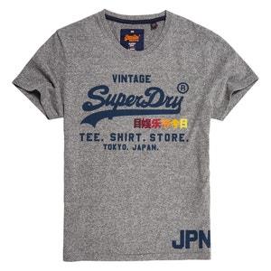 Tee shirt col rond imprimé, manches courtes SUPERDRY