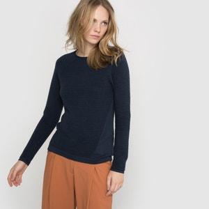 Sweter z fantazyjnej dzianiny 100% bawełna R édition