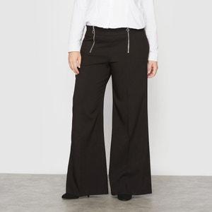 Wide Leg Zip-Up Trousers CASTALUNA