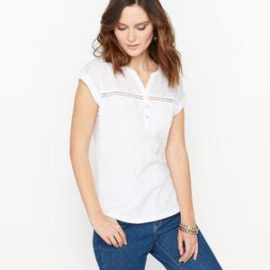T-Shirt, reine Baumwolle, Struktur-Jersey ANNE WEYBURN