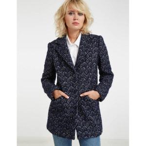 Manteau en laine effet moucheté MORGAN
