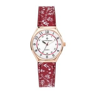 Montre fille analogique bracelet cuir motif floraux boitier 29 mm MiniStar LULU CASTAGNETTE