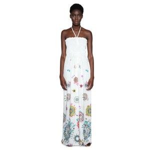 Bustier jumpsuit met bloemenprint en wijde pijpen DESIGUAL
