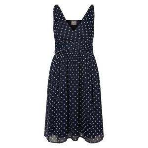 Wijd uitlopende korte jurk met stippenprint VERO MODA