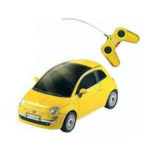 Voiture radiocommandée Nouvelle Fiat 500 R/C : Jaune MONDO