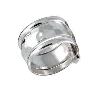 Bague anneau martelé accompagné de 2 anneaux fins en argent 925 CANYON
