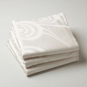 Serviettes de table jacquard, 100% polyester, (lot La Redoute Interieurs