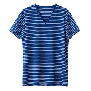 T-Shirt V Ausschnitt gestreift 100% Baumwolle La Redoute Collections