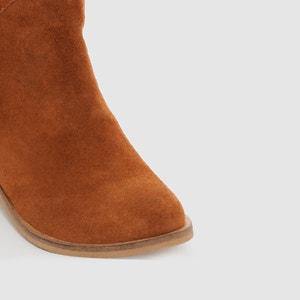 Boots in onbewerkt leer met franjes en pompon abcd'R