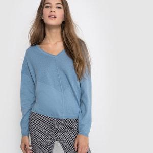 Пуловер из хлопка/кашемира с V-образным вырезом La Redoute Collections