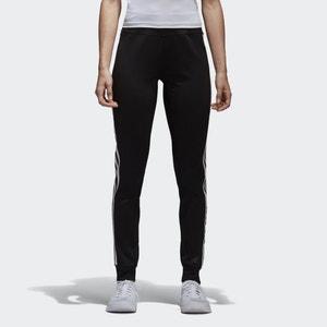 8e90837e6034 adidas Women s D2M 3 Stripe Cuff Jogging Pants - Black White - L - Black