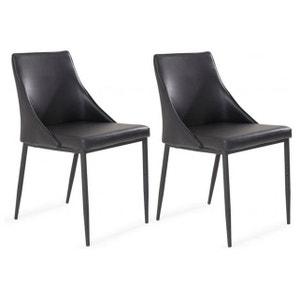 Lot de 2 chaises en contreplaqué noires COLT DECLIKDECO