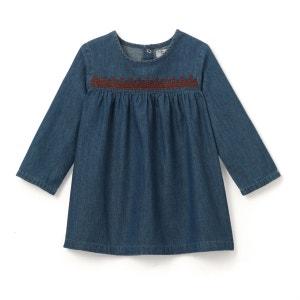 Robe en jean brodée 1 mois - 3 ans La Redoute Collections