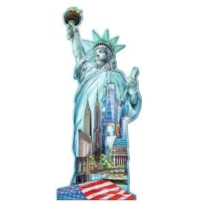 Puzzle silhouette 1000 pièces : Statue de la Liberté RAVENSBURGER